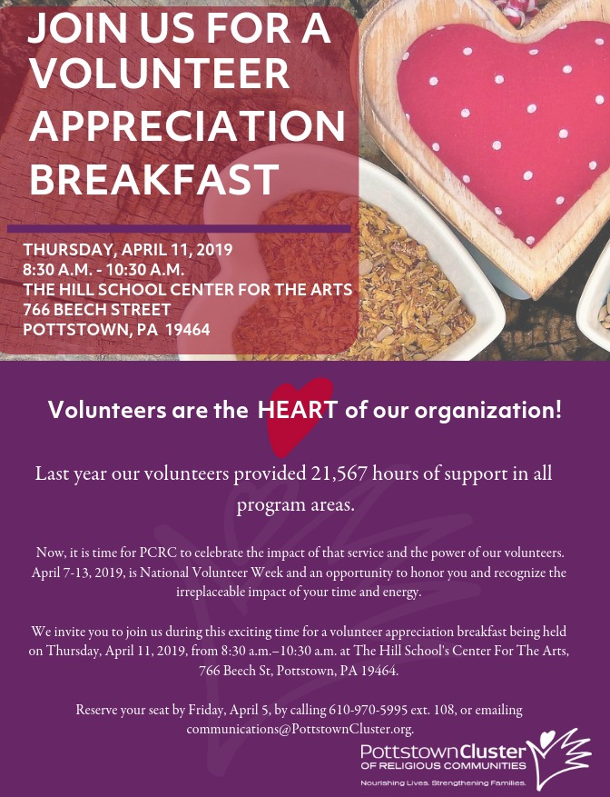 Volunteer Breakfast Invitation
